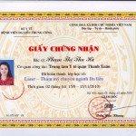 Bác sĩ Phạm thị Thu Hà tốt nghiệp khóa học laser chuyên ngành da liễu