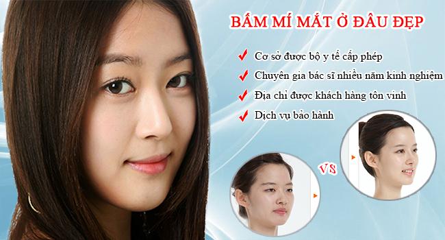 Bấm mí mắt Hàn Quốc ở đâu đẹp tại Hà Nội