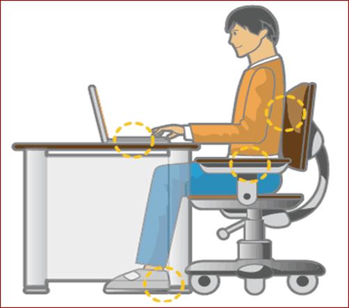 Ngồi làm việc đúng tư thế giúp bảo vệ mắt