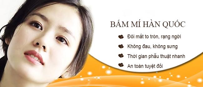 Khách hàng chia dẻ quy trình bấm mí mắt Hàn Quốc đẹp tại Hà Thanh